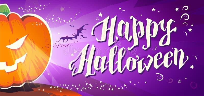 Vector flache Halloween-Karte, Anzeige, Fahne, Plakat, Plakat, Parteieinladung, flayer Design stock abbildung
