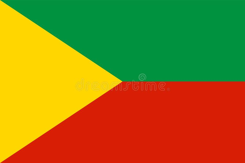 Vector flag of Baikal, Russian Federation - Chita Region, Siberian Federal District. Zabaykalsky kray. Province in Russia royalty free illustration