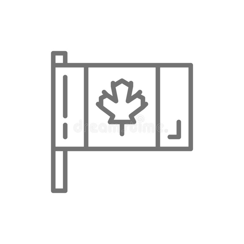 Flag of Canada line icon. vector illustration