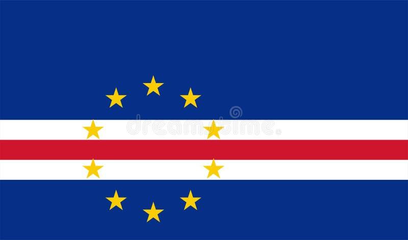 Vector flag of Cape Verde. Proportion 10:17. Cape Verdean national flag. Republic of Cabo Verde. vector illustration