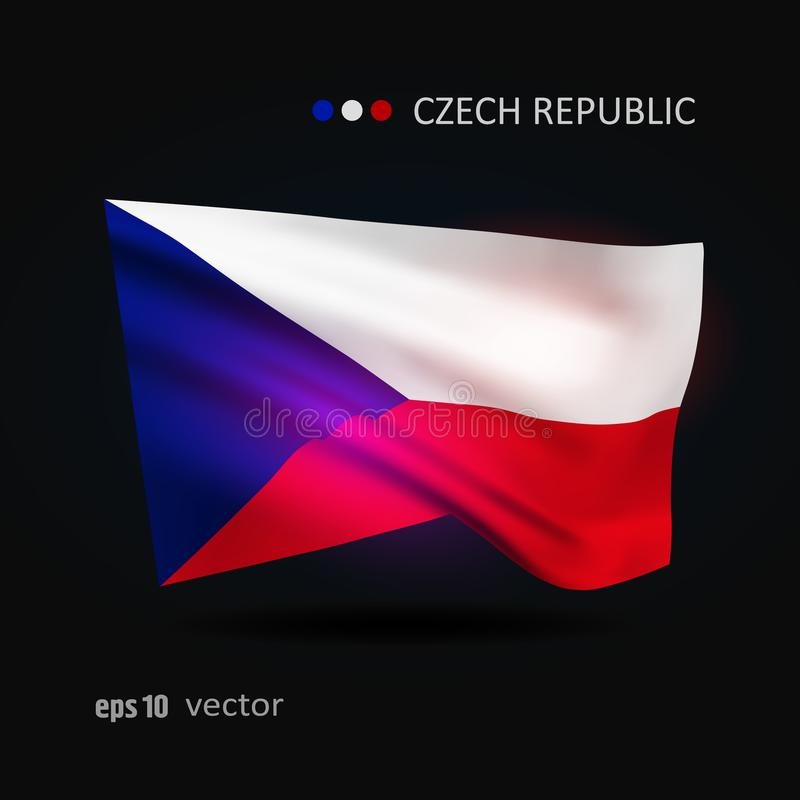 Vector flag of Czech Republic royalty free illustration