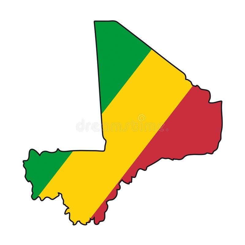 Vector Flag Mali vector illustration