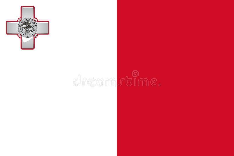 Malta national flag. Vector illustration. Valetta vector illustration