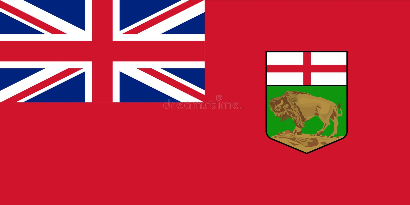 Vector flag of Manitoba province Canada. Winnipeg.  royalty free illustration