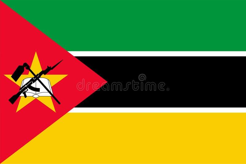 Vector flag of Mozambique. Proportion 2:3. Mozambican national flag. Republic of Mozambique. vector illustration