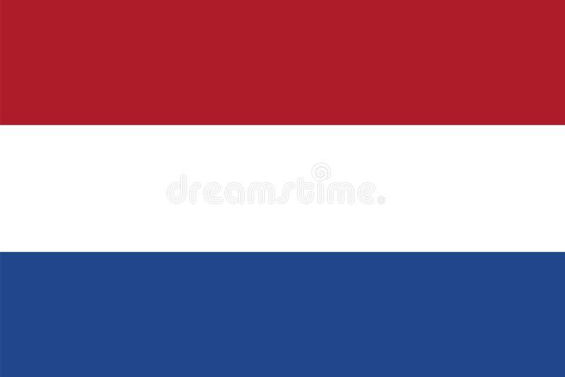 Vector flag of Netherlands. Holland flag. stock illustration