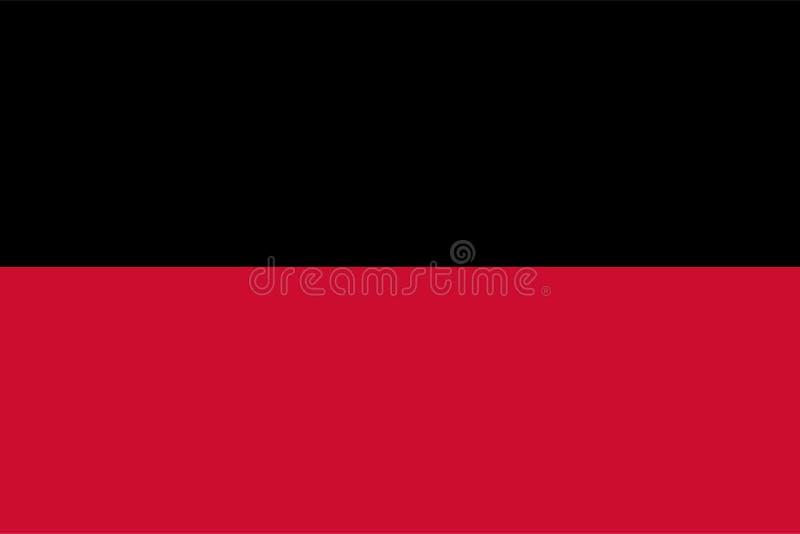 Vector flag of Nijmegen city illustration, Netherlands. Gelderland province city. Holland town flag royalty free illustration