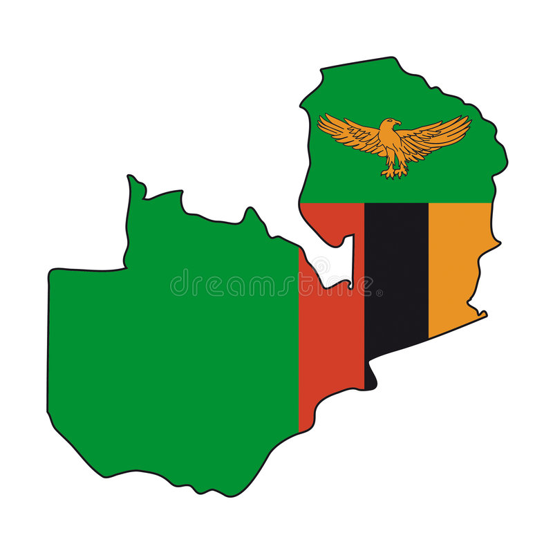 Vector Flag Zambia vector illustration