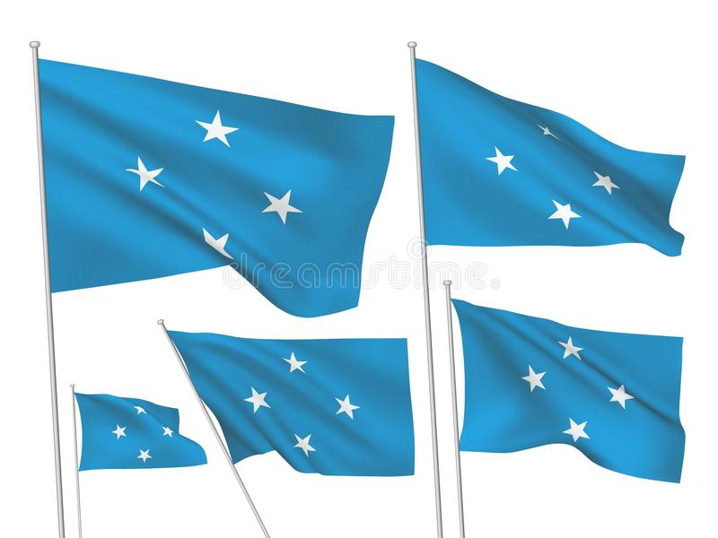 Vector flags of Micronesia stock illustration