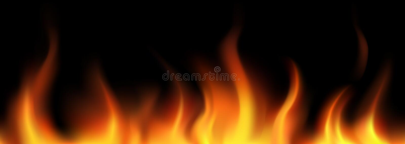 Vector. Flame seamless border royalty free illustration