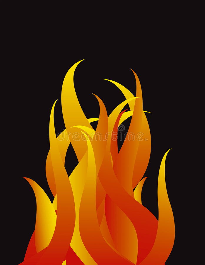 Vector flames stock illustration