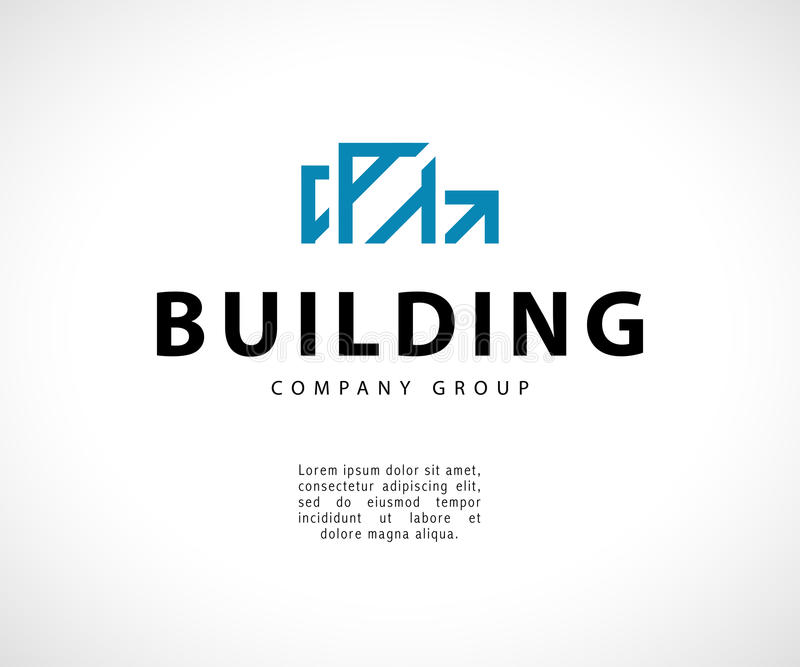 download vector flat abstract geometric building company emblem stock vector illustration of house