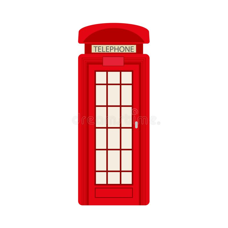 Vector flat british red photo booth icon stock illustration