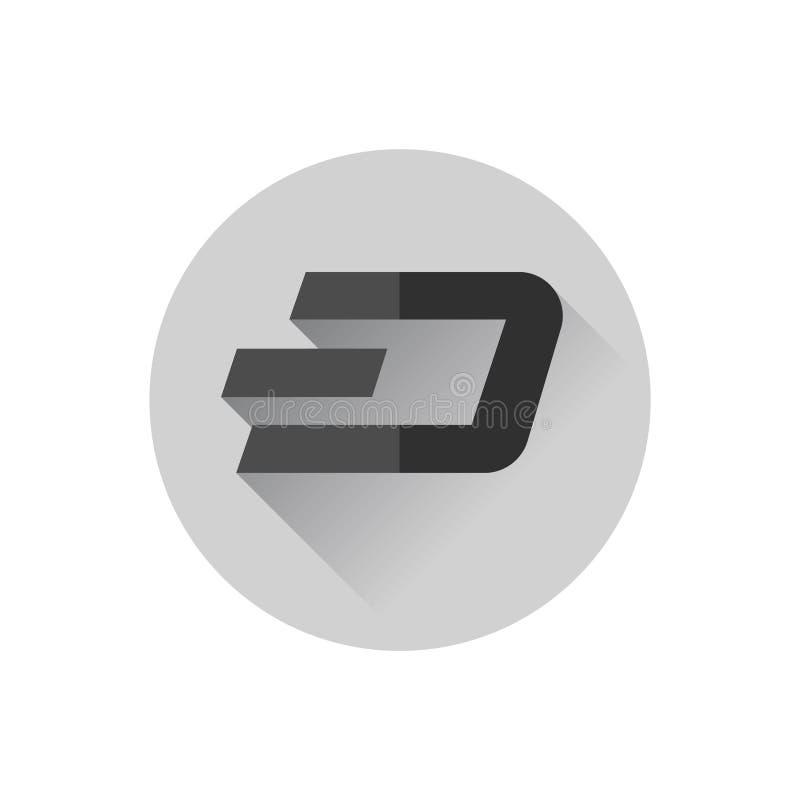 Flat design Dash. Vector. Flat design. Icon of dash vector illustration