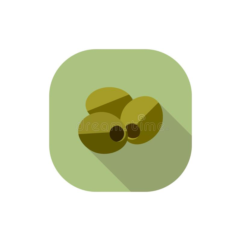 Flat design Olives. Vector. Flat design. Icon of green olives without leaves vector illustration