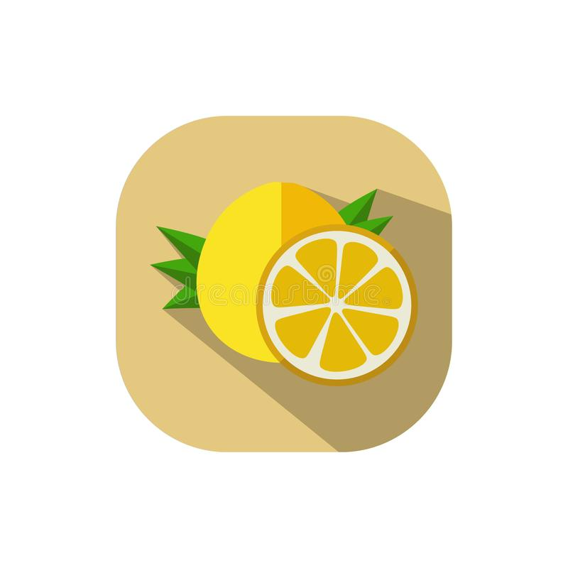 Flat design Pomelo. Vector. Flat design. Icon of yellow pomelo vector illustration
