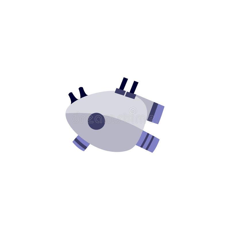 Vector Flat futuristic heart prosthesis icon. royalty free illustration