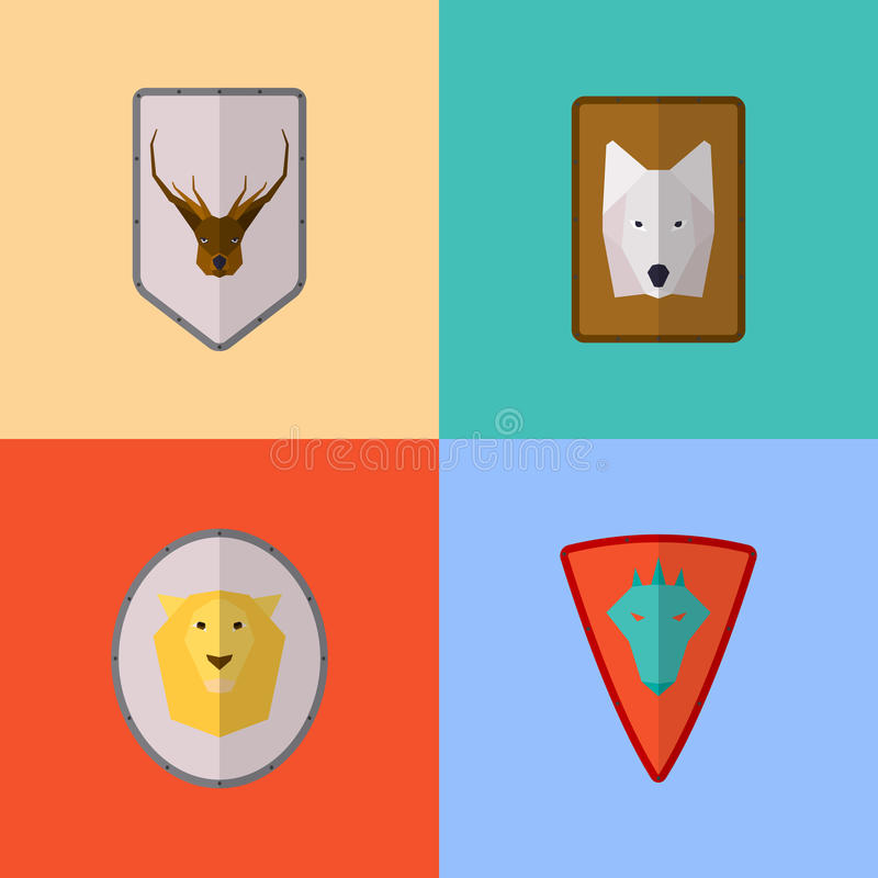 Vector flat game icons vector illustration