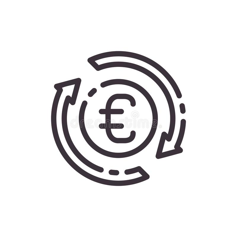 Vector flat icon dollar currency exchange. royalty free illustration