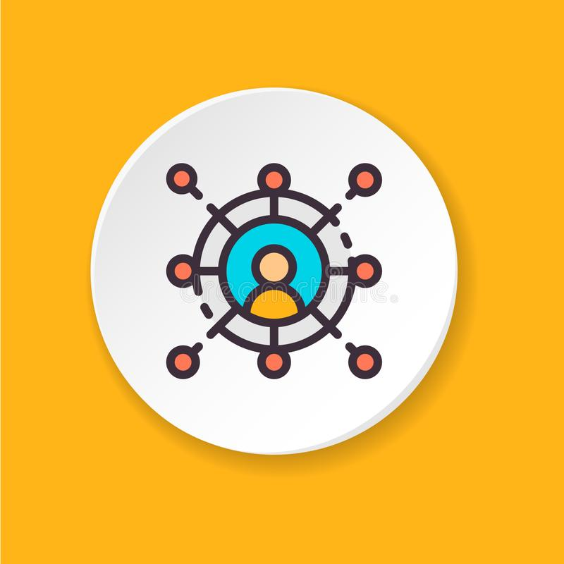 Vector flat icon networking. Button for web or mobile app. royalty free illustration