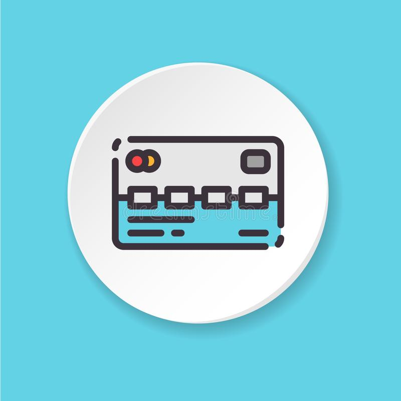 Vector flat icon prepaid card. UI/UX user interface. royalty free illustration
