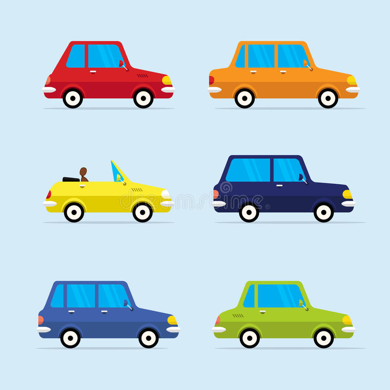 Vector Flat Icon Set of Modern Vehicles royalty free illustration