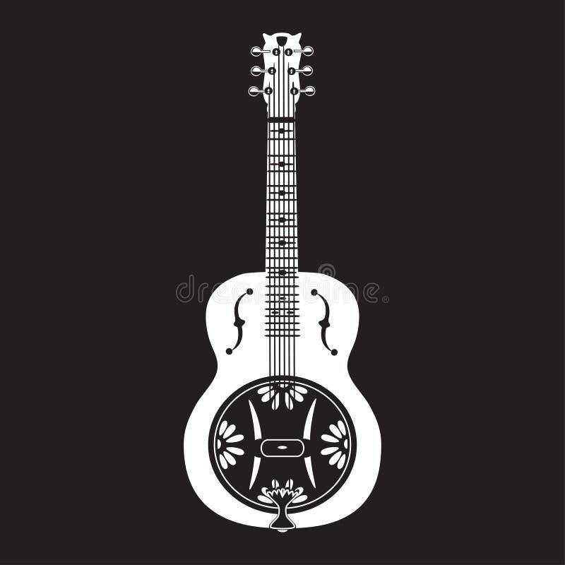 Download Vector Flat Illustration Of Dobro American Resonator Guitar Stock