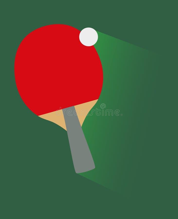 Vector flat illustration of table tennis vector illustration