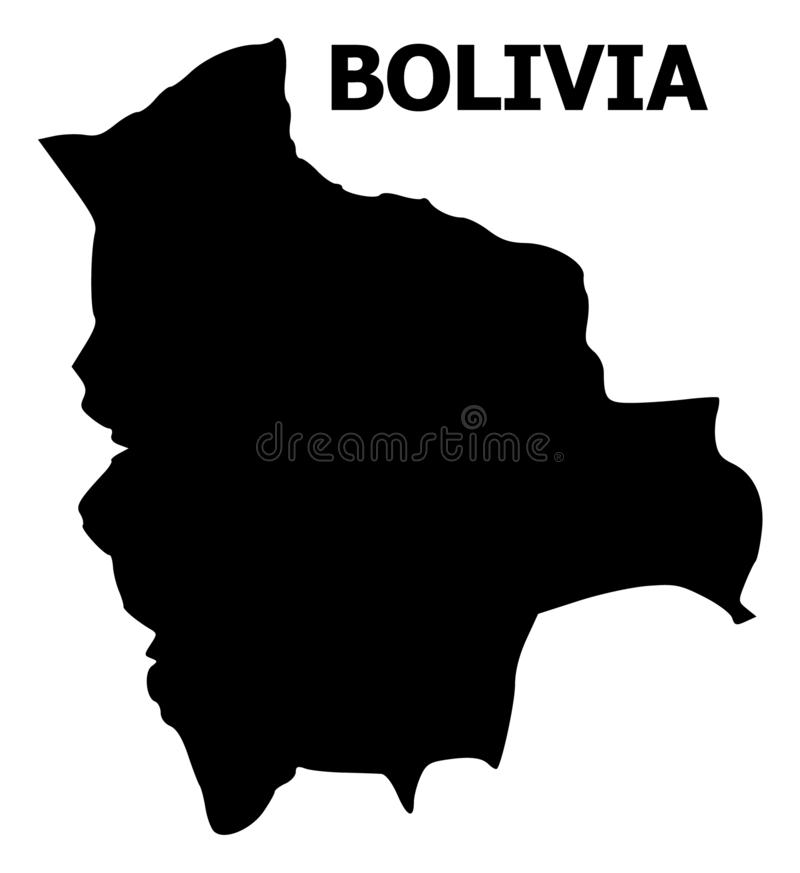 Vector Flat Map of Bolivia with Name royalty free illustration