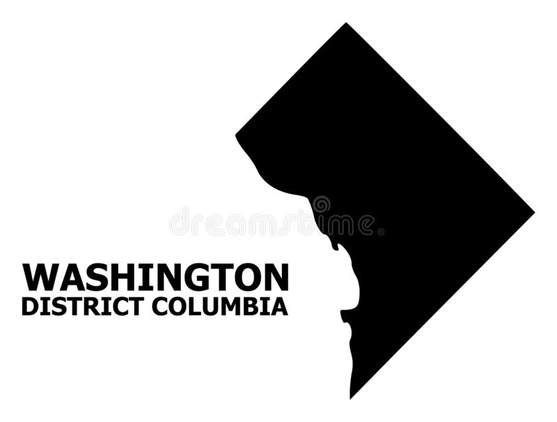 Vector Flat Map of District Columbia with Name vector illustration