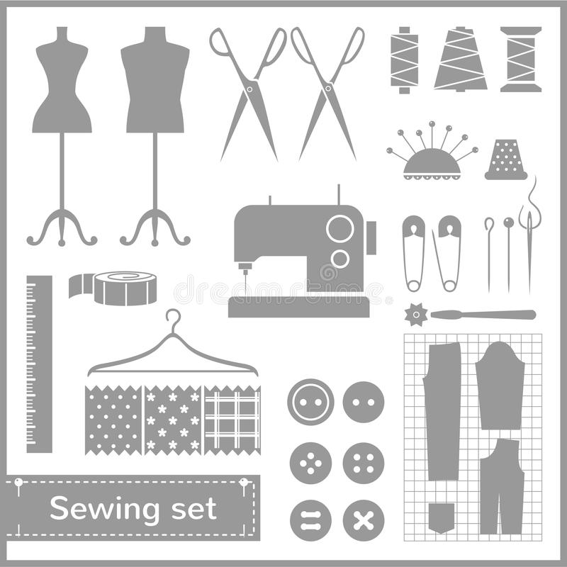 Download Vector Flat Sewing Icons Set Stock Photo - Image: 36406070