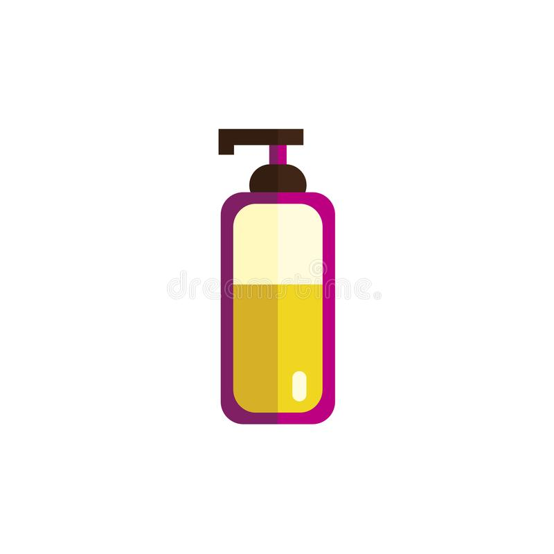 Vector flat hair removal tools bottle with cream royalty free illustration