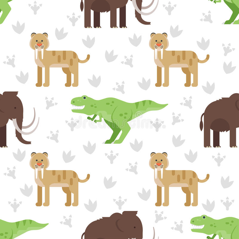 seamless pattern with dinosaurs. stock illustration