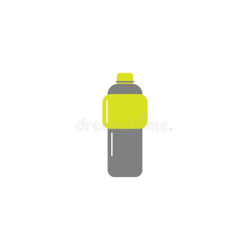 Vector flat style icon - sport bottle for water or isotonic - for logo, icon, poster, banner, healthy lifestyle, Sports bottle vector illustration