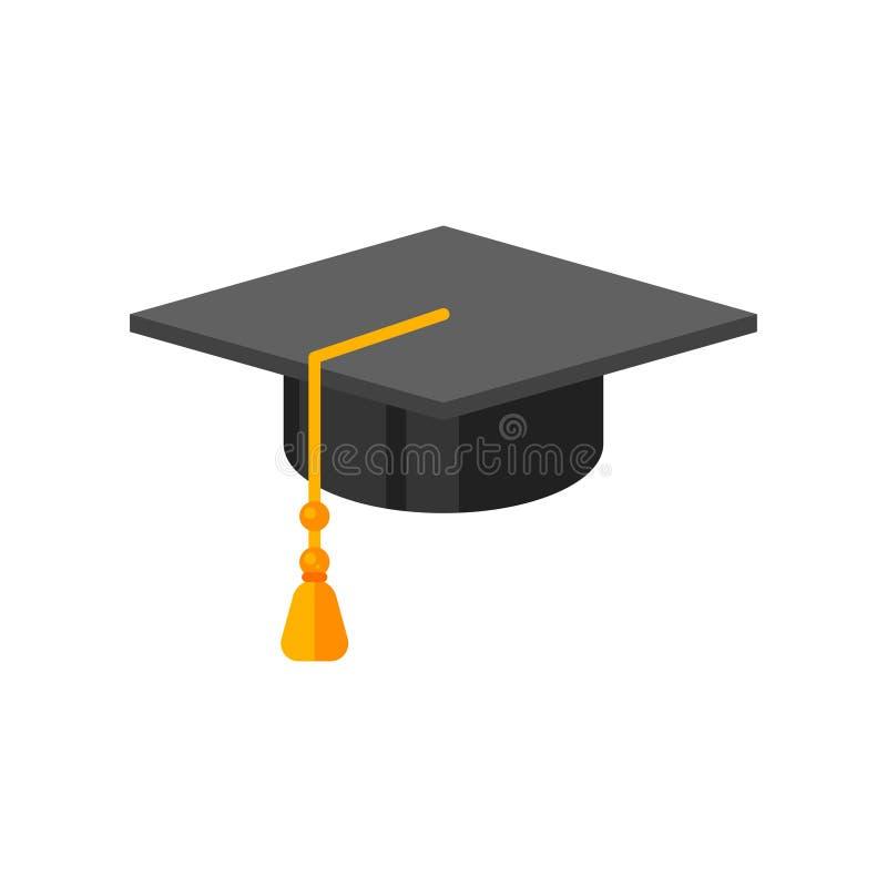 Illustration of graduation cap. vector illustration