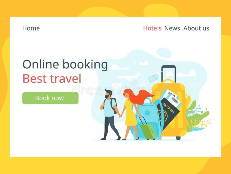 Tourism concept background stock illustration
