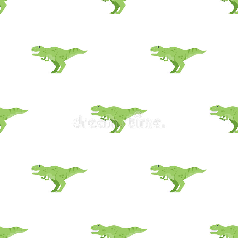 Download Vector Flat Style Seamless Pattern With Green Dinosaur T-rex. Stock Vector - Illustration: 88361663