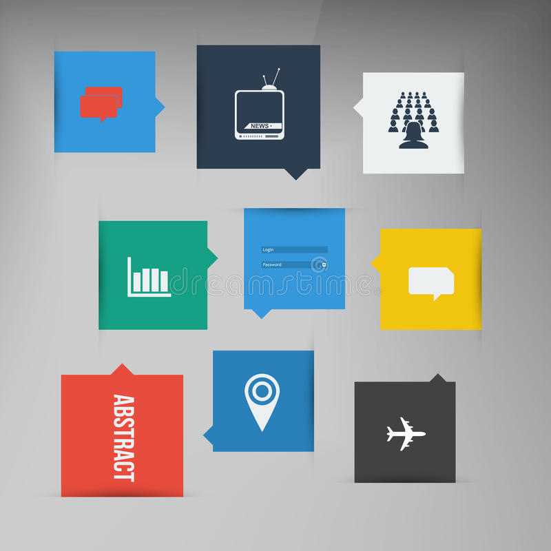 Free Vector Flat UI Design Trend Icons. Royalty Free Stock Photography - 40500317