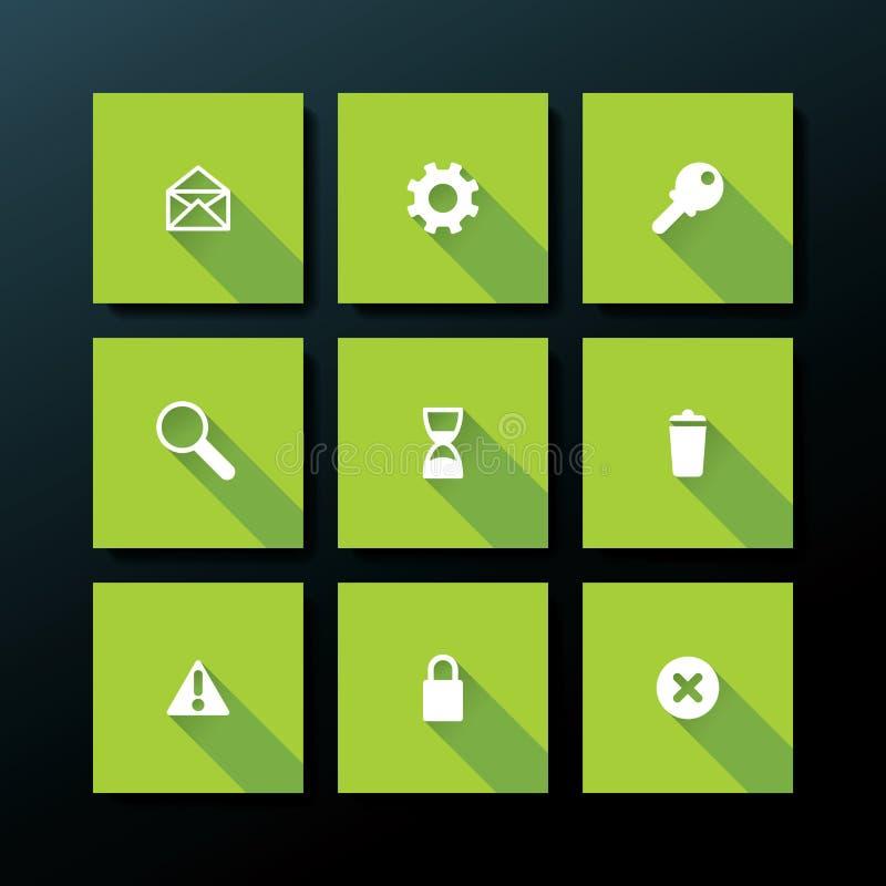 Vector flat web icon set royalty free illustration