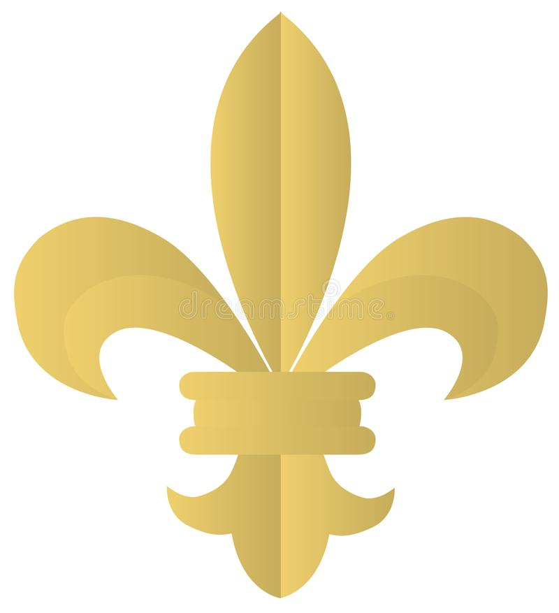 Vector Fleur De Lis Icon Is On White Background stock illustration