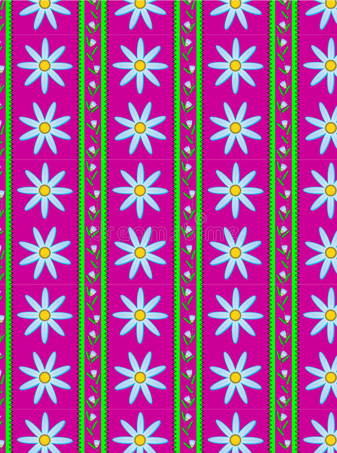 Vector Flora Pink Striped Wallpaper Background Royalty Free Stock Photos