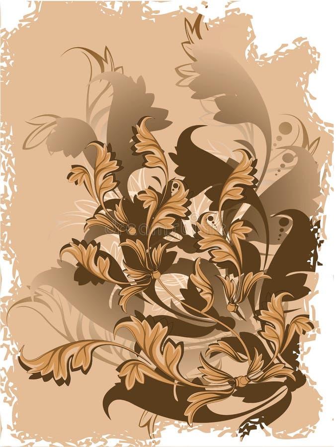 Vector floral background royalty free illustration