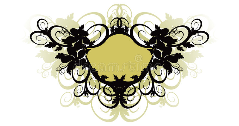 Download Vector Floral Background And Frame Royalty Free Stock Images - Image: 1718989