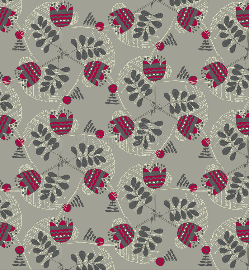 Download Vector  Floral Background, Pattern Stock Vector - Image: 34442592