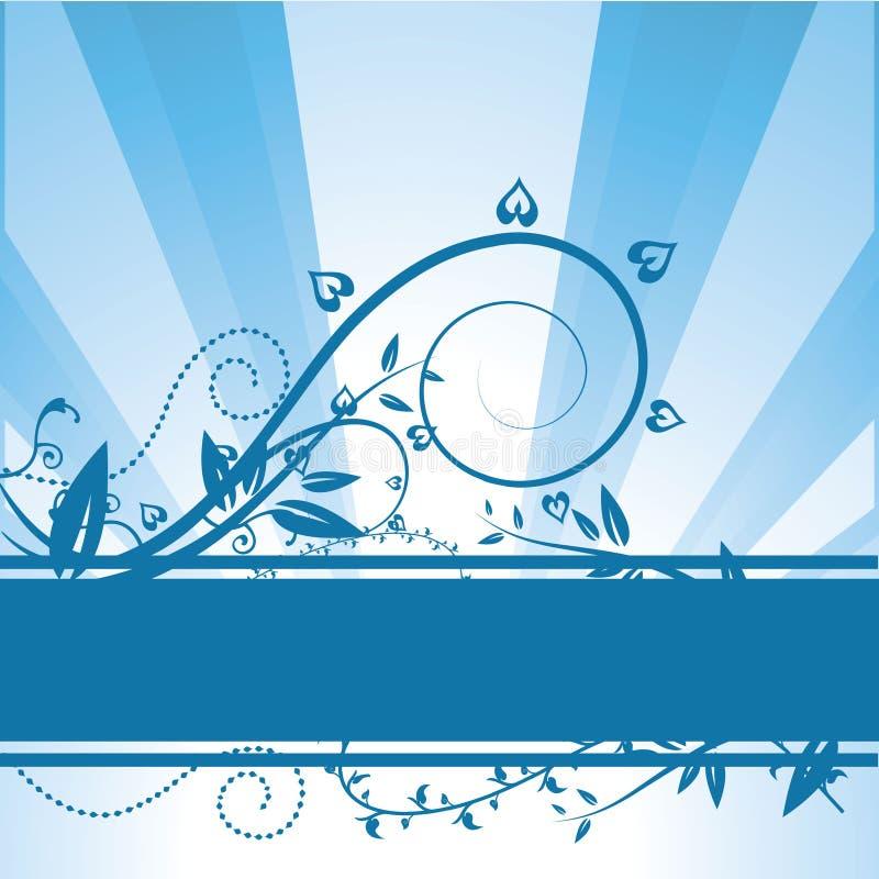 Download Vector Floral Blue Background Stock Vector - Image: 14720670