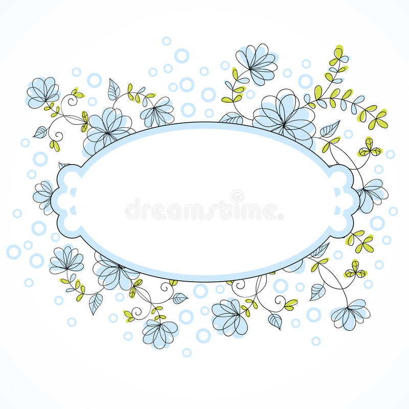 Vector floral border stock vector illustration of leaf 27529841 vector botanical border with flowers for wedding invitation or cards stopboris Choice Image