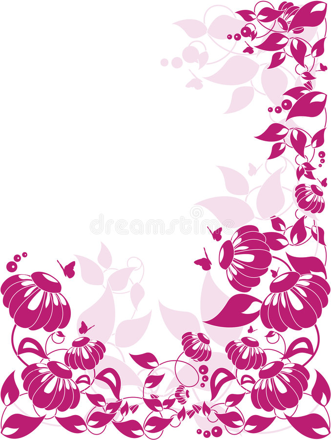 Download Vector floral border stock vector. Image of painting, beautiful - 7658170