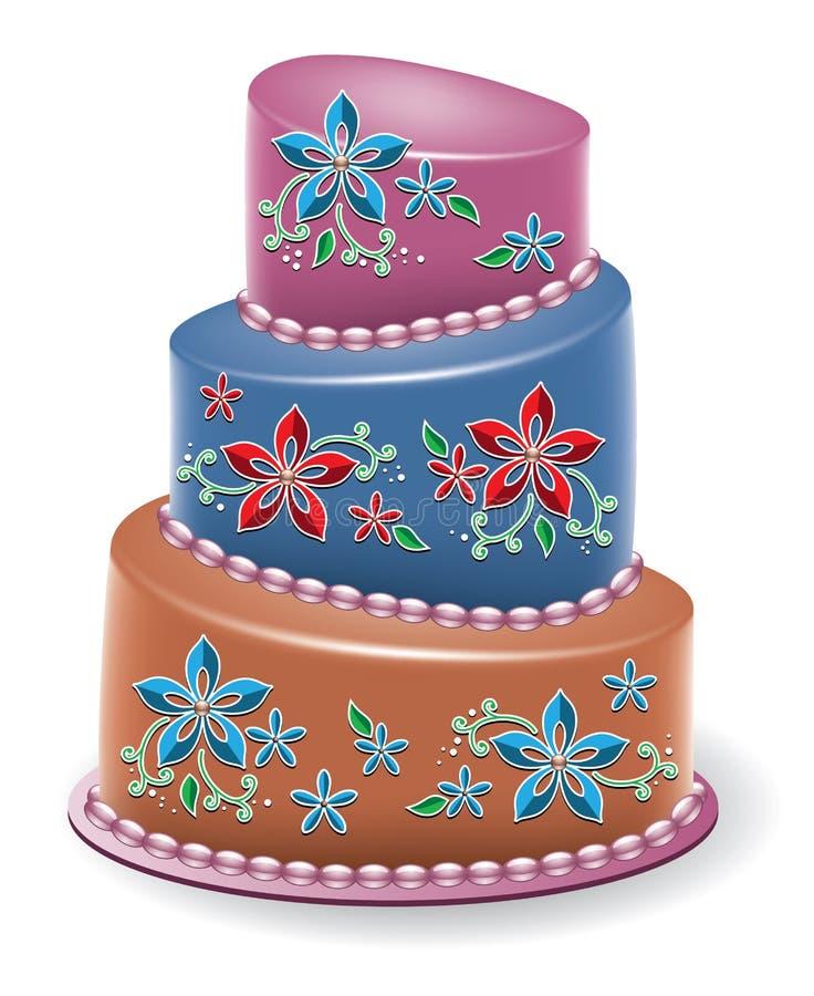 Download Vector  floral cake stock vector. Image of happy, cream - 28931660