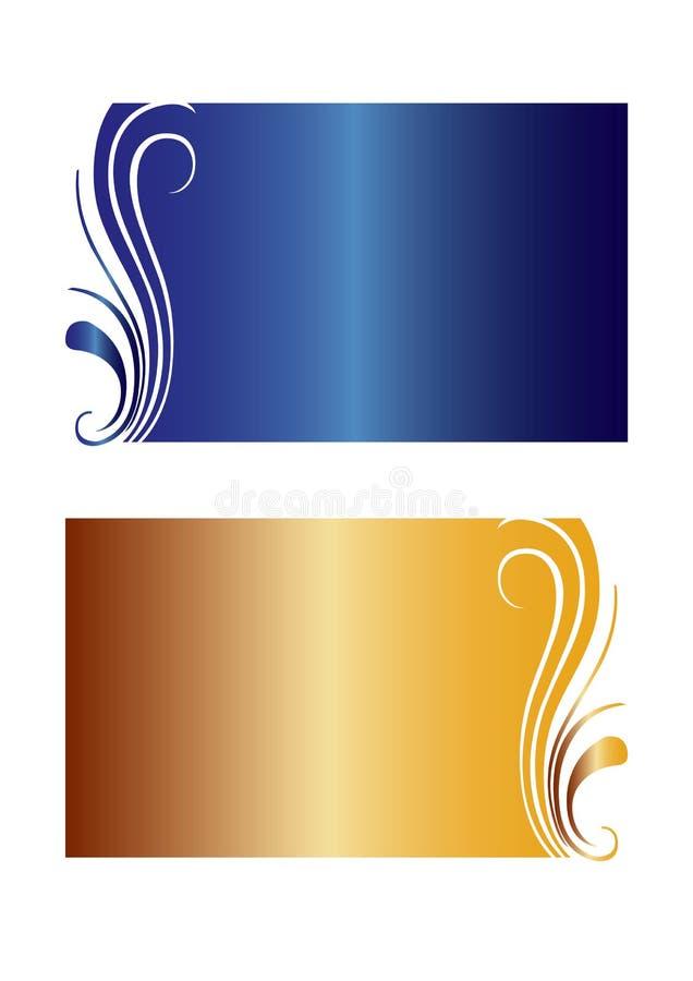 Vector floral de las banderas del gradiente ilustración del vector