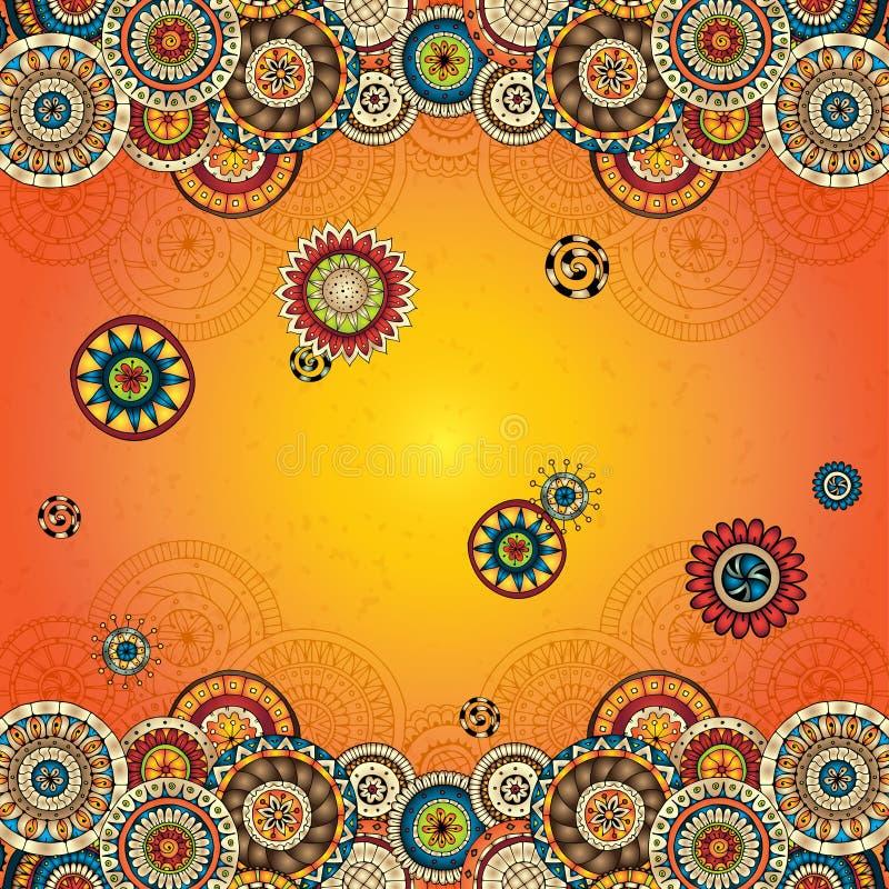 Vector floral decorative background. vector illustration